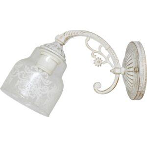 STING - Klausen - Vintage, antikolt, díszített csillár - üveg/fém - antik fehér- IP20 - 1xE27, 1x11W