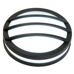 Titan Round medium grill kültéri fali lámpa/mennyezeti 1 light E27 dark grey