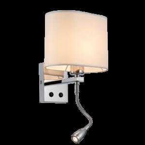 Maya Fali Lámpa + Led Lámpa Króm - Elmark