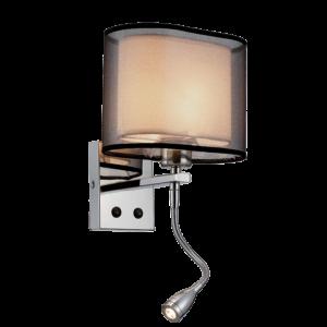 Mery Fali Lámpa 1Xe27 +1Wled 4000K króm -Elmark
