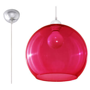 Sollux - Függeszték lámpa - BALL vörös