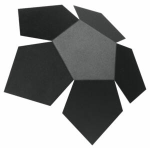Fali lámpa -  PENTA fekete