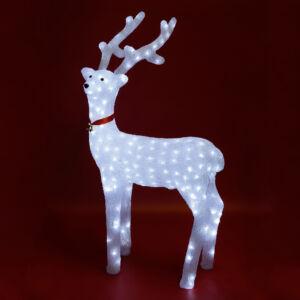 Rénszarvas dekoráció akril melegfehér-Somogyi