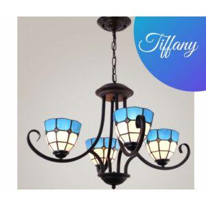 Tiffany modern csillár kék - 4 búrával  - Stl