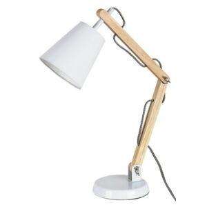 Thomas asztali lámpa E14 40W fehér+natúr - Rábalux