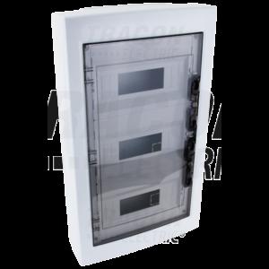 Tracon - Falon kívüli elosztódoboz, füstszínű-sík ajtóval