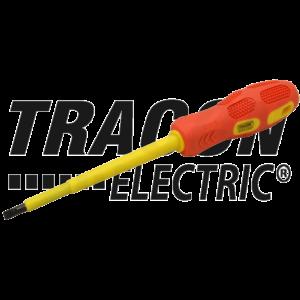 Tracon - Csavarhúzó, egyenes, 1000V-ra szigetelt, sárga-piros nyél