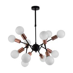 Ball csillár lámpa matt fekete/bronz - Prezent