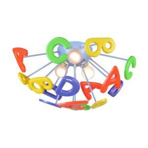 ABC gyermek mennyezet lámpa 3xe14/40w ø40cm - Prezent