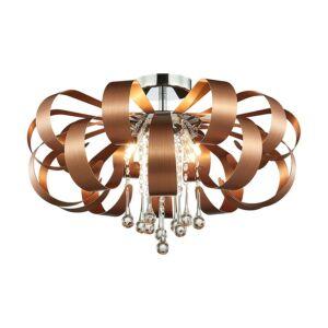 Ribbon crystal mennyezet lámpa 6xg9/33w réz ø60cm