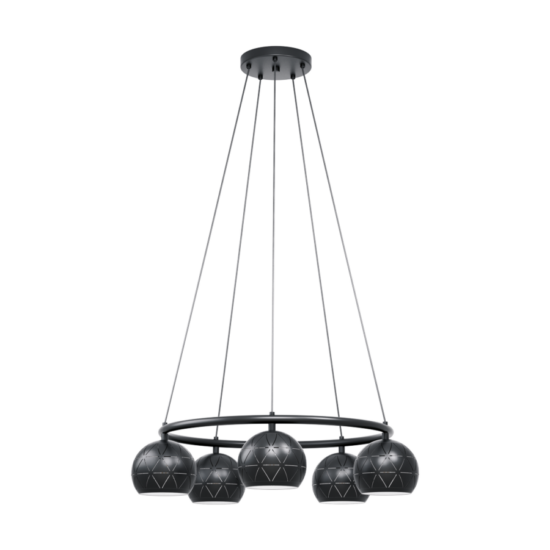 Eglo Függeszték E14 5X40W Fekete Cantallops