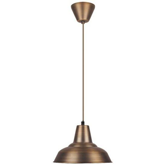 Madison, függeszték, D28,5cm, kívül bronz, belül fényes fehér bura - Rábalux