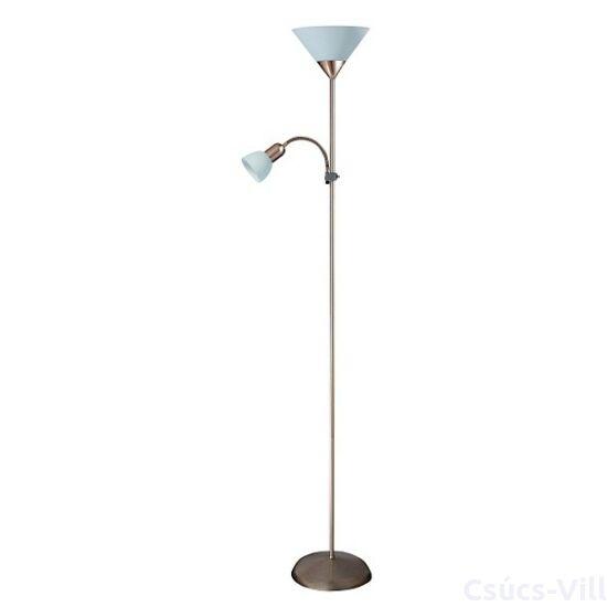 Action álló lámpa, olvasókarral, H180cm króm/fehér - Rábalux