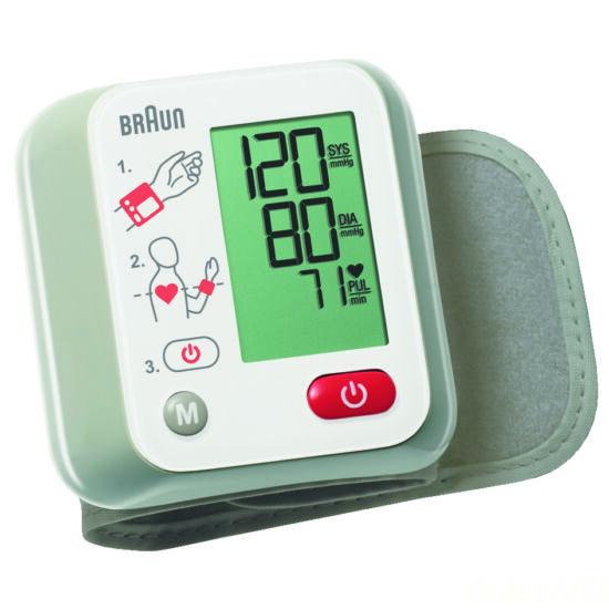 Braun-vérnyomásmérő, csuklós, 10 memória