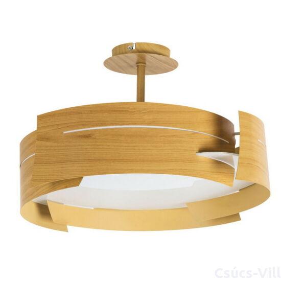 Berbera, fa hatású, skandnáv stílusú mennyezeti lámpa, üveg búrával- Rábalux