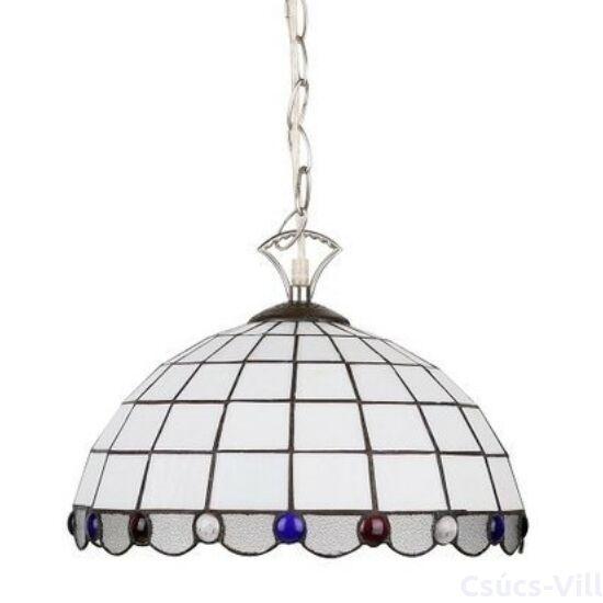 Candellux- TIFFANY függeszték lámpa, 1x60W- fehér