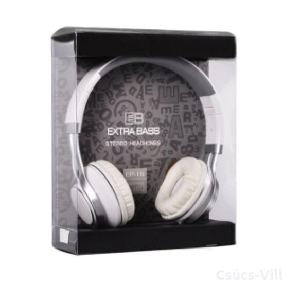 Remax- Audio Extra Bass mikrofonos fejhallgató- fehér