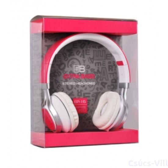 Remax- Audio Extra Bass mikrofonos fejhallgató- pink