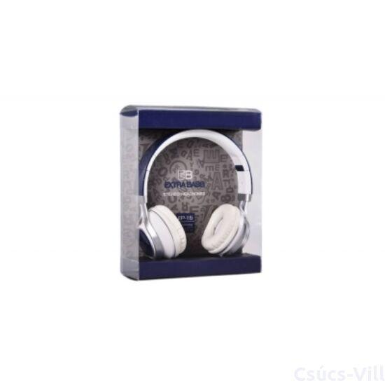 Remax- Audio Extra Bass mikrofonos fejhallgató- kék