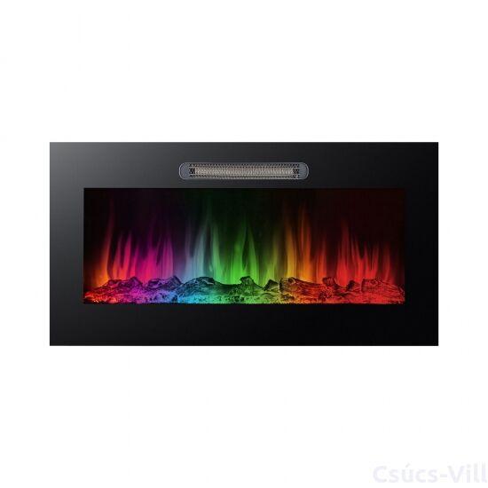 Bewello- elektromos beépíthető kandalló hősugárzóval- RGB LED