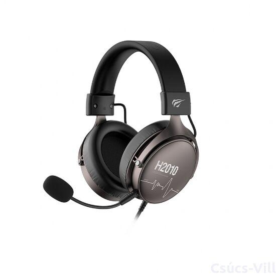Havit gamer fejhallgató mikrofonnal- fekete