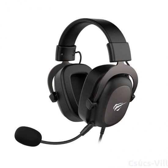 Havit- PS4, Xbox gamer vezetékes fejhallgató mikrofonnal- fekete
