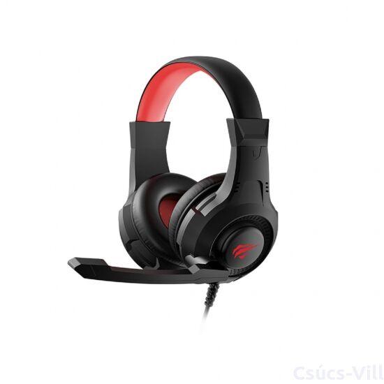Havit- gamer vezetékes fejhallgató USB+3,5mm- fekete&piros