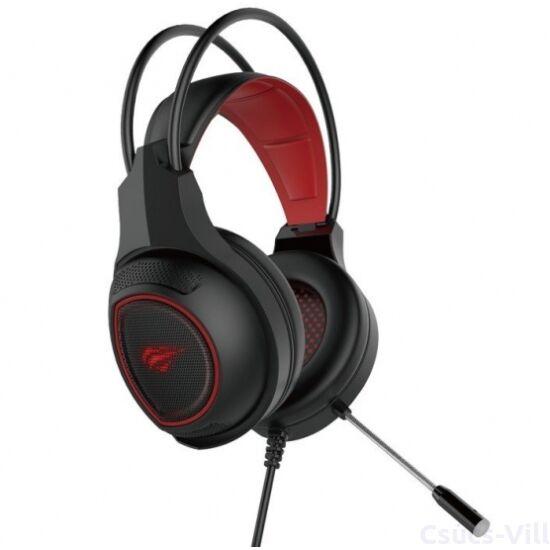 Havit- gamer vezetékes fejhallgató csúsztatható mikrofonnal- fekete