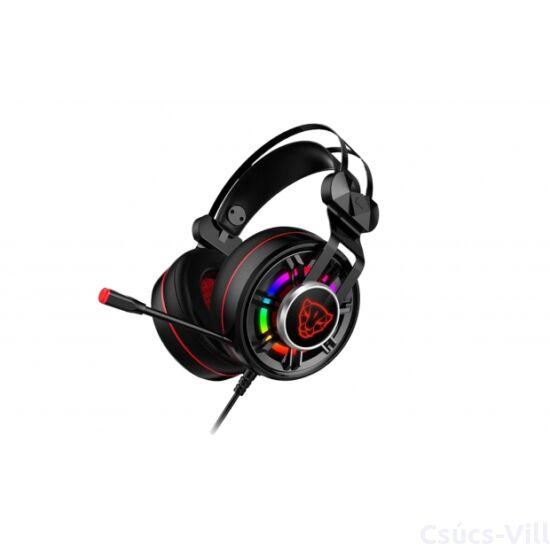 Motospeed-  vezetékes gamer fejhallgató- fekete