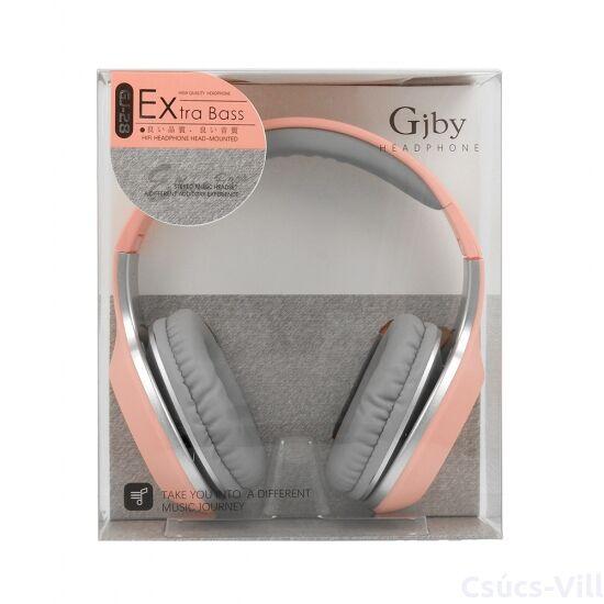 GJBY Audio Extra Bass fejhallgató- rózsaszín