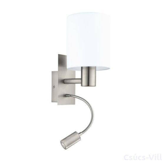 Eglo Fali Lámpa E27 40W+3,5Wled Mnik/Fehérpasteri