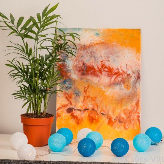 Eko-Light-kék pamut dekor fűzér