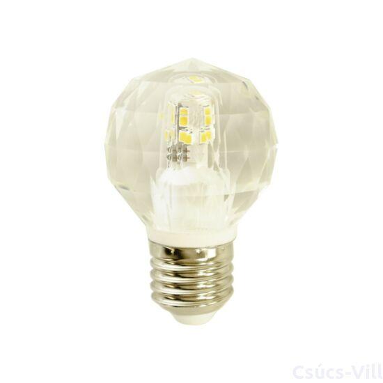 Eko-Light - Dekoratív LED izzó - kristály - 4,3W G45 E27 4000K - semleges fény