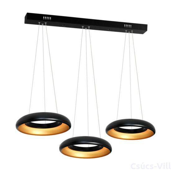 Milagro - RONDO NERO - függeszték 3-as fekete 36W LED