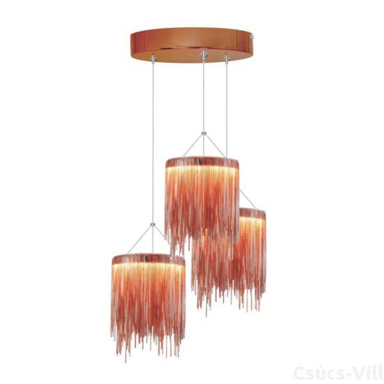 Milagro - CASCATA  - Függeszték 3-as vörös 54W LED