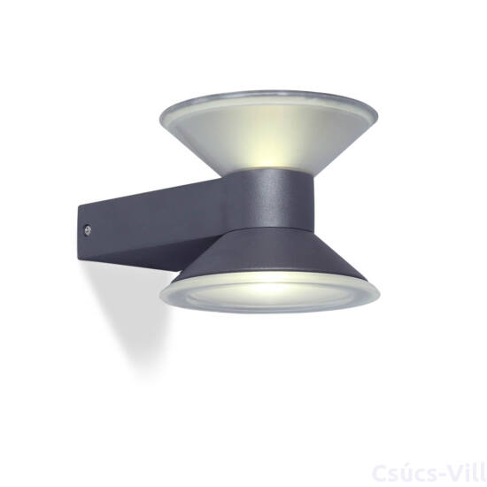 Tube kültéri LED fali lámpa 1 light - dark grey