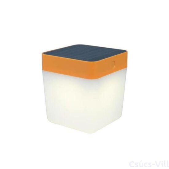 Table Cube solar LED Hordozható 1 light orange