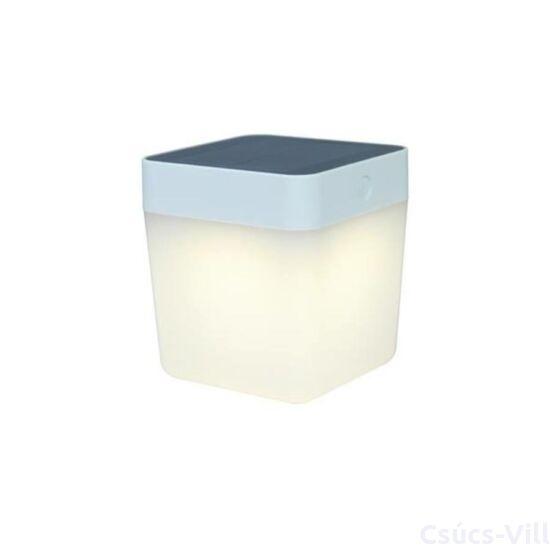 Table Cube solar LED Hordozható 1 light Fehér