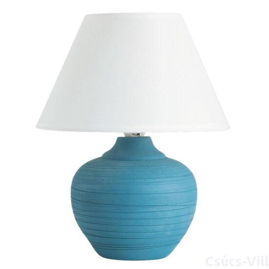Molly kerámia asztali E14 40W kék/fehér - Rábalux