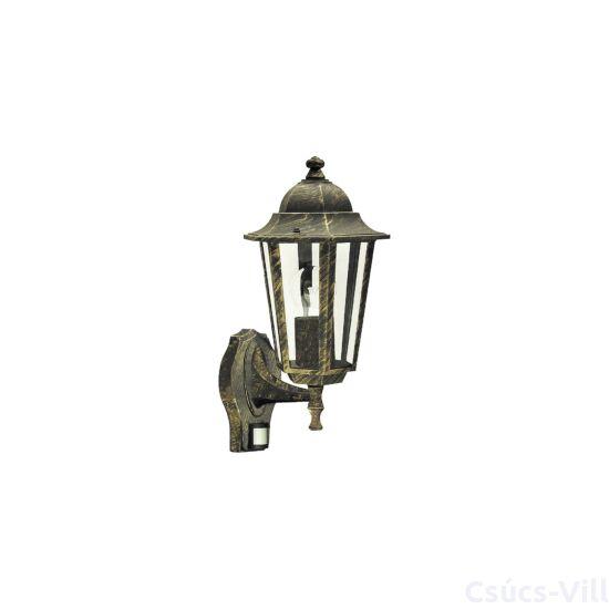 Velence kültéri fali lámpa E27 60Wa.arany IP44 mozgásérzékelős