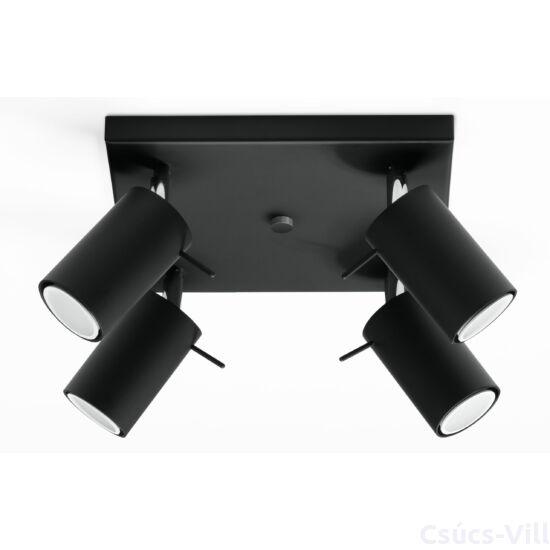 Sollux - Mennyezeti lámpa -  RING 4 fekete