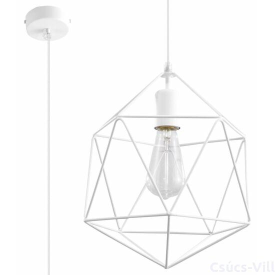 Sollux - Függeszték lámpa - GASPARE Fehér