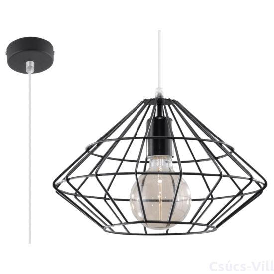 Sollux - Függeszték lámpa - UMBERTO Fekete