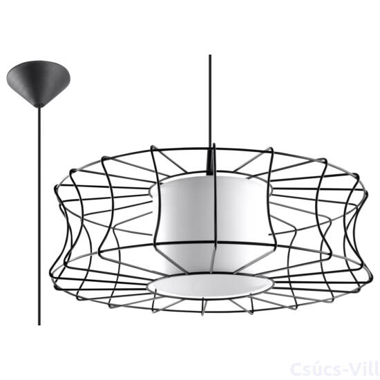 Sollux - Függeszték lámpa - SALERNO Fekete