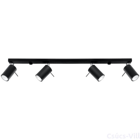 Sollux - Mennyezeti lámpa -  RING 4L fekete