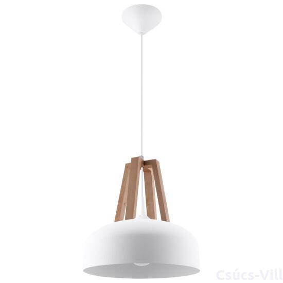 Sollux - Függeszték lámpa - CASCO Fehér/natúr fa