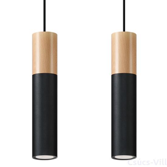 Sollux - Függeszték lámpa - PABLO 2 Fekete