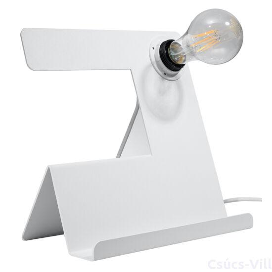 Sollux - Asztali lámpa - INCLINE fehér