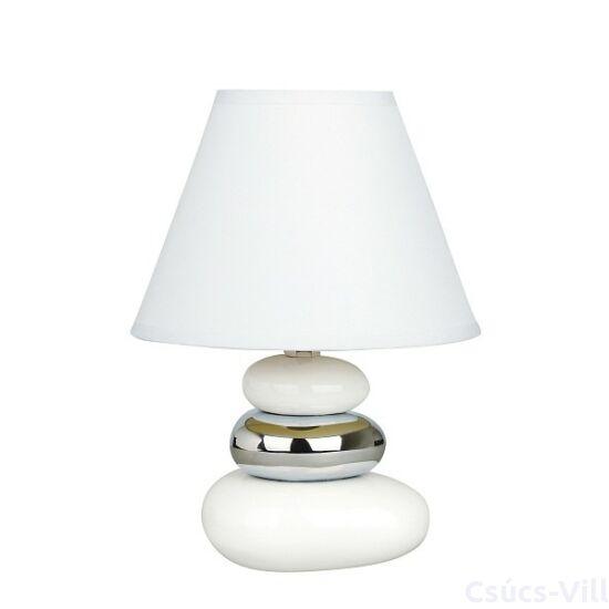 Salem asztali kerámialámpa, E14 1x40W, fehér/ezüst - Rábalux