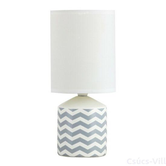 Sophie,szövet búrás asztali lámpa, romantikus stílusban/ fehér mintás - Rábalux